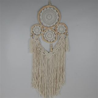Boho Multi Dreamcatcher w Wooden Beads 30cm x 85cm