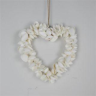 Shelly Wreath Heart 17cm dia
