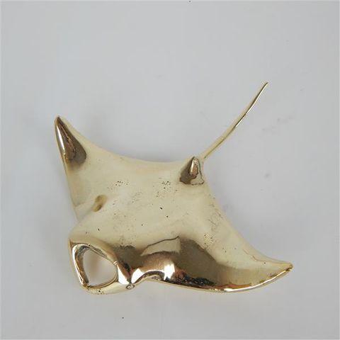 Brass Mantaray 15cm x 14cm wide