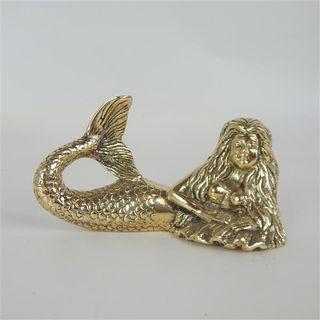 Brass Mermaid Small Lying 14cm x 6cm x 7cm high