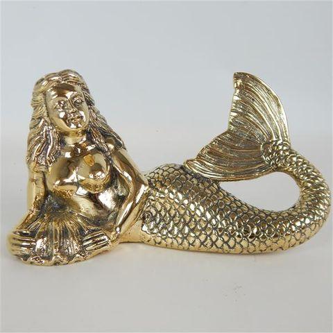 Brass Mermaid Large Lying 23cm x 10cm x 14cm high