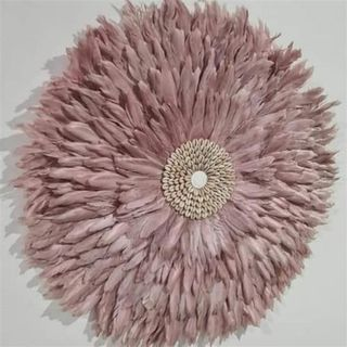 Feather Circle Dusty Rose 65cm dia