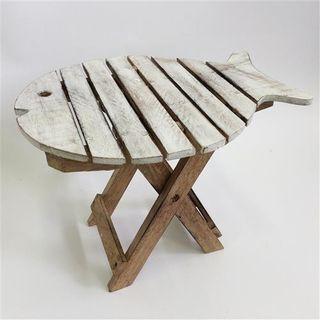 Fish Table Small Whitewash 40cm x 30cm x 30cm high