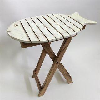 Fish Table Tall Whitewash 50cm x 35cm x 50cm high