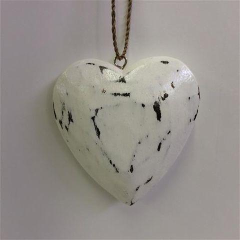 Menya Heart Single Whitewash 10cm x 10cm
