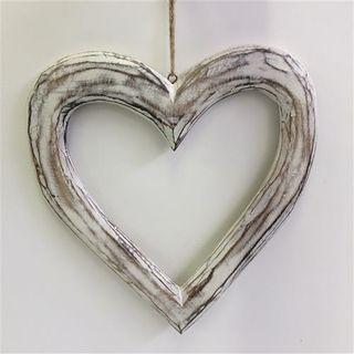 Menya Hollow Heart Lge White 28cm x 32cm