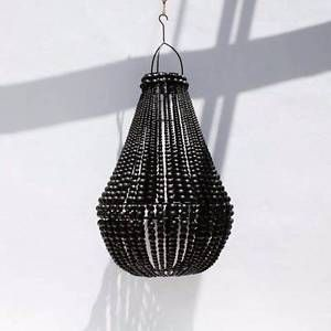 Beaded Chandalier Large Black 50cm x 70cm high