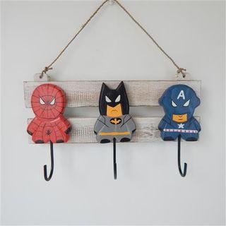 Superhero Hanger 3 Hooks 30cm x 18cm high