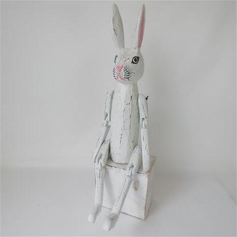 Vintage Rabbit Extra Large Whitewash 15cm x 50cm high