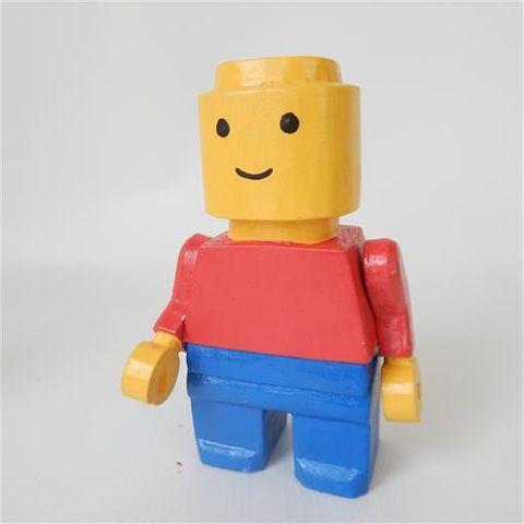 Brick Yellow Man Yellow/Blue 12cm x 20cm high