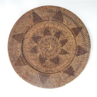 Lombok Deco Plate Antik Brown 50cm