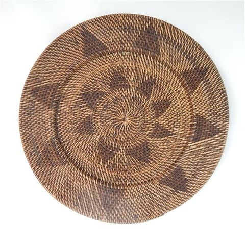 Lombok Deco Plate Antik Brown 50cm