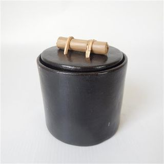 Lombok Canister w Lid 10cm x 10cm high