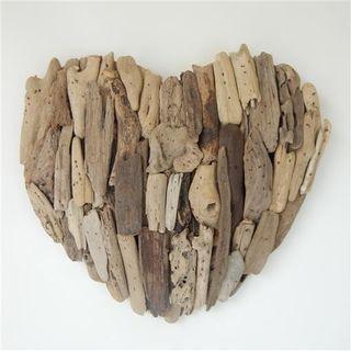 Driftwood Heart 40cm x 37cm high