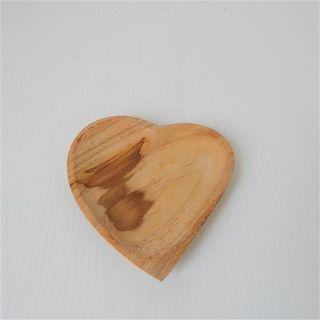 Teak Heart Dish 11cm x 12cm high