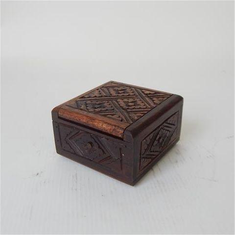 Mila Carved Box Small 10cm x 10cm x 6cm hig