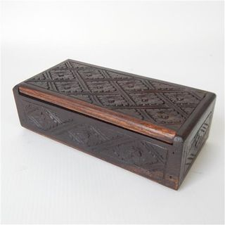 Mila Carved Box Large 20cm x 10cm x 6cm high