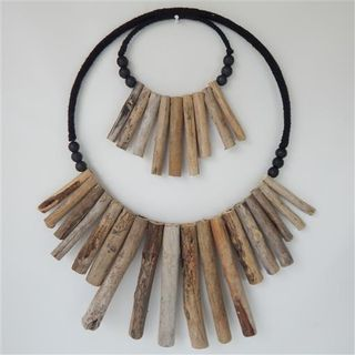 Driftwood Loop Necklace Double 50cm x 60cm long