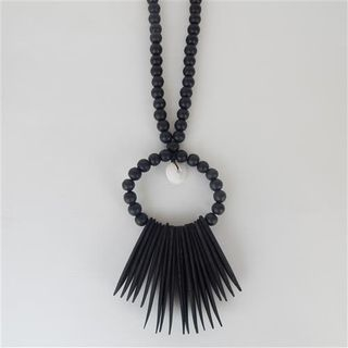Indi Wall Necklace Black 20cm x 70cm long