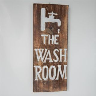 "Laundry Sign ""The Wash Room"" 20cm x 40cm high"