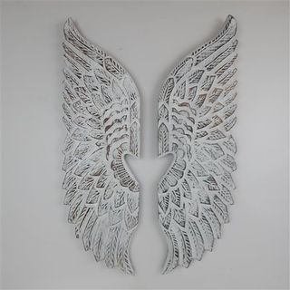Angel WIngs Heart Whitewash 25cm x 80cm high