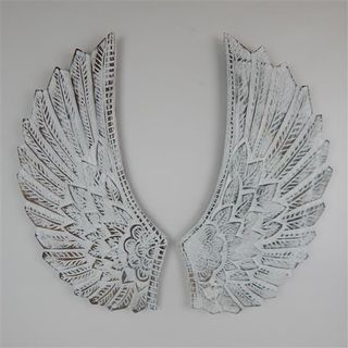 Angel Wings Curved Whitewash 30cm x 60cm high