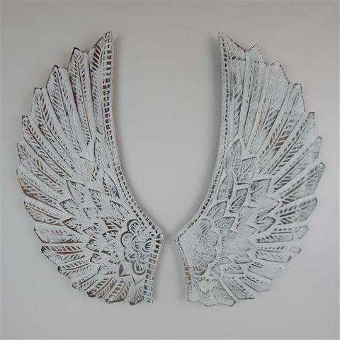 Angel Wings Curved Whitewash 30cm x 60cm high