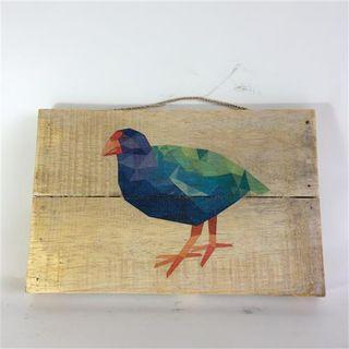 NZ Bird Takahe 30cm x 20cm high