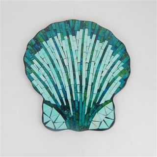 Sardina Glass Tiled Scallop Shell 30cm x 35cm high