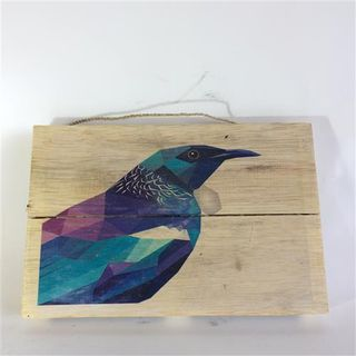 NZ Bird Tui 30cm x 20cm high