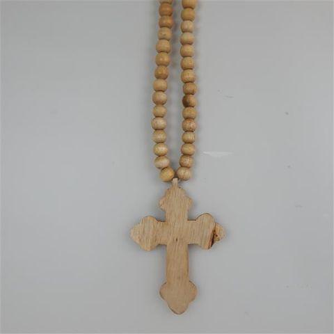Menya Necklace Bubble Cross Natural 15cm x 60cm long
