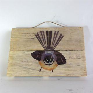 NZ Bird Fantail 30cm x 20cm high