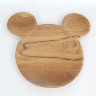Teak Mickey Mouse Plate 33cm x 30cm