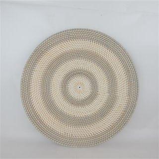 Lombok Deco Plate Stripe Grey/White 50cm dia