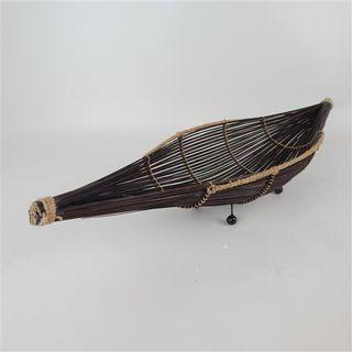 Reed Bowl Dark 18cm x 60cm x 10cm high