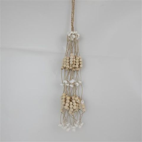 Bead/Shell Hanging Bundle Natural 45cm long