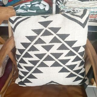 Cushion Cover Cotton Triangles 50cm x 50cm