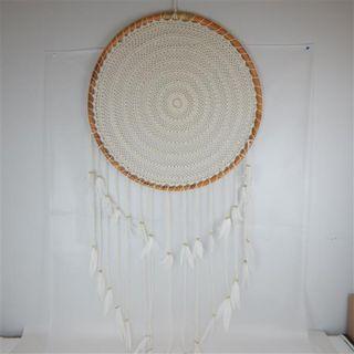Boho Giant Dreamcatcher Cream 80cm dia x 140cm long