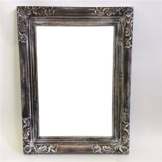 Wooden Mirror Greywash 60cm x 80cm high