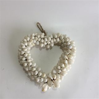 Shell Wired Heart Small White 20cm x 20cm