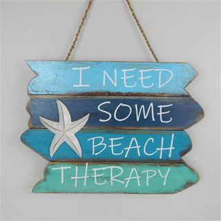 "Sign ""I need some Beach Therapy"" Aquas"