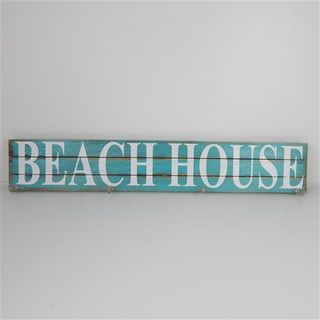 Beach House Hook Aqua 100cm x 18cm high