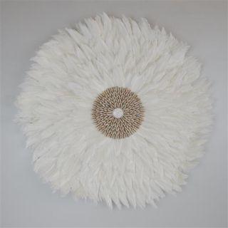 Feather Circle White 65cm dia