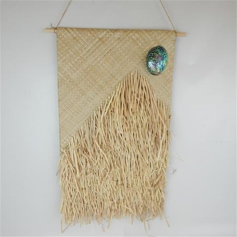 Flax Wall Hanging Natural 46cm x 80cm long