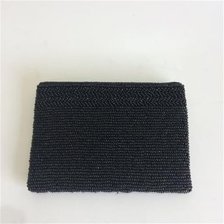 Beaded Coin Purse Charcoal 10cm x 14cm
