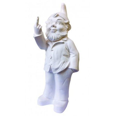 Pop Gnome w Finger White 35cm high