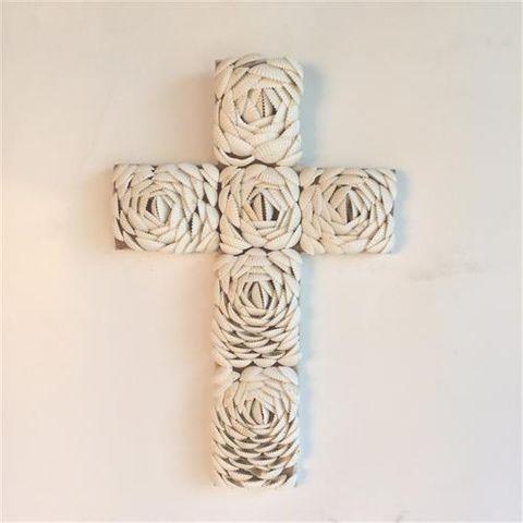 Shelly Cross 20cm x 30cm high
