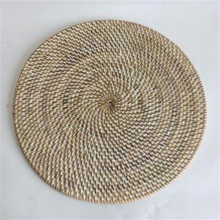 Lombok Placemat Whitewash 30cm dia