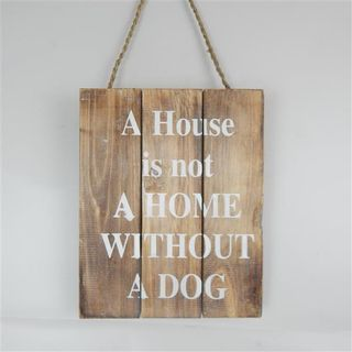 """Wall Sign 'A house is not a Home""""' Nat/White 20cm x 30cm"""