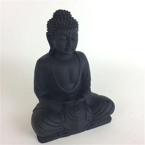 Matte Buddha Black 20cm high